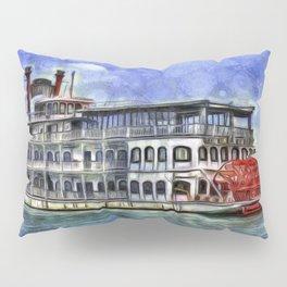 New Orleans Paddle Steamer Van Goth Pillow Sham