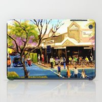 cafe iPad Cases featuring Sidewalk Cafe by Helen Syron