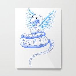 Snake Piece #46 - Blue Eyed Angel Metal Print
