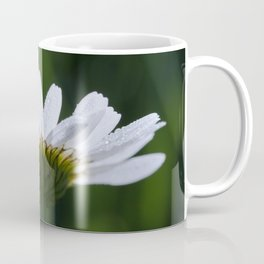 White flower with dark and moody green Coffee Mug