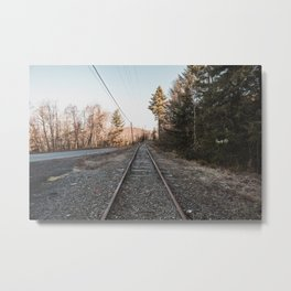 Along the highway Metal Print