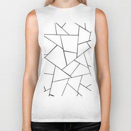 Black White Geometric Glam #1 #geo #decor #art #society6 Biker Tank