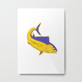 Albacore Tuna Fish Drawing Metal Print