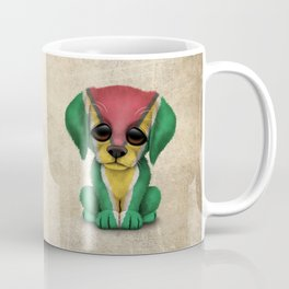 Cute Puppy Dog with flag of Guyana Coffee Mug