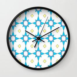 symetric patterns 37 -mandala,geometric,rosace,harmony,star,symmetry Wall Clock