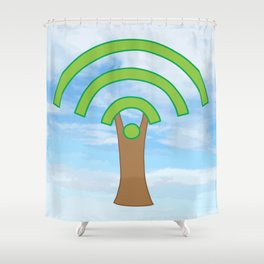 Tree of WiFi Shower Curtain