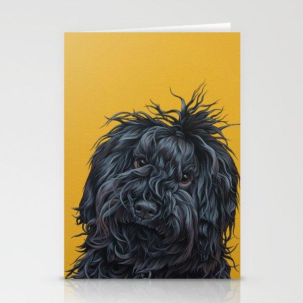 Sweet Puli Puppy Painting Dreadlock Dog Art Puli Dog Portrait