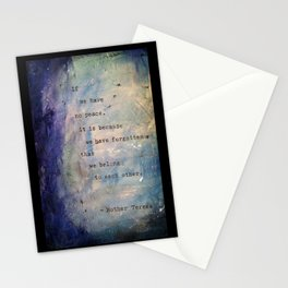 Forgotten We Belong to Each Other Stationery Cards