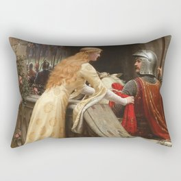 "Edmund Blair Leighton ""God Speed!"" Rectangular Pillow"