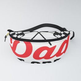 Dad Pit Crew for Racing Party Costume Black Text T-Shirt Fanny Pack