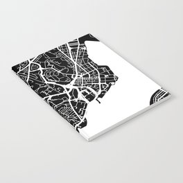 Street MAP Hong Kong // Black&White Notebook
