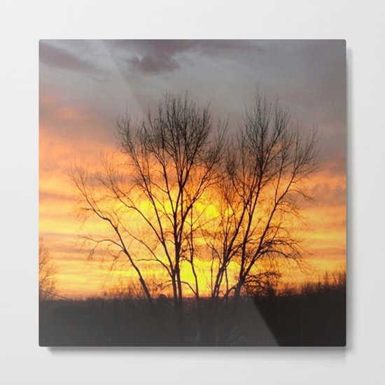 Radiant Sunset Metal Print