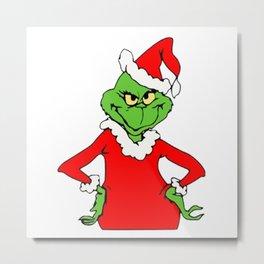 The Grinch Christmas Metal Print