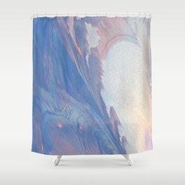 New Ice Light One Shower Curtain