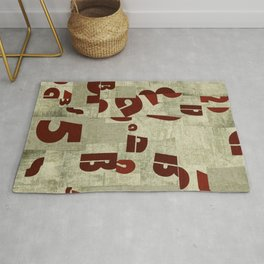Absract Collage Rug