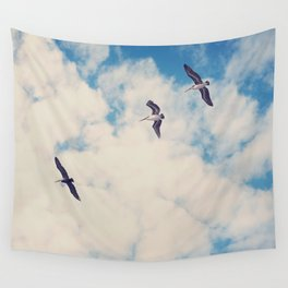 Flying Over Seas Wall Tapestry