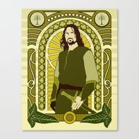 aragorn Canvas Prints featuring Aragorn by Angelo Rabbit