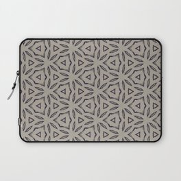 Achromatic StarFlower Pattern Laptop Sleeve
