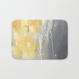 50 Shades of Grey and Yellow Bath Mat