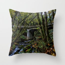 Chuckanut Drive Bridge Throw Pillow