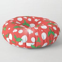 the real Italian pizza pattern backgroun Floor Pillow