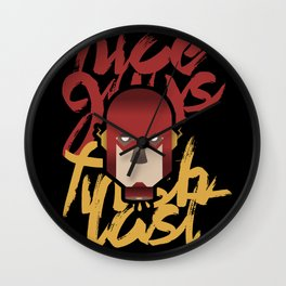 The flash is dead Wall Clock