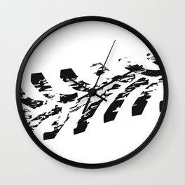 Single Tractor Tyre Mark Wall Clock