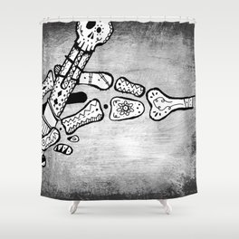 Skull #3 (Lost Pieces) Shower Curtain