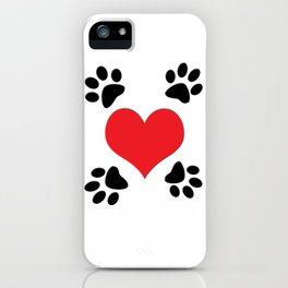 Hearts and 4 Paws iPhone Case