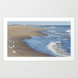 Virginia Beach Surf Art Print