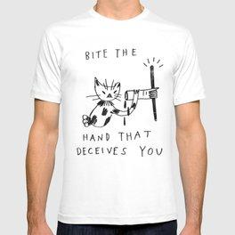bite the hand T-shirt