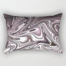 Abstract pink liquid painting Rectangular Pillow