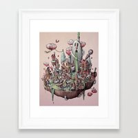 island Framed Art Prints featuring Floating Island by Marija Tiurina