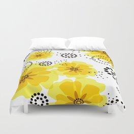 PEPPER POPPIES | yellow Duvet Cover