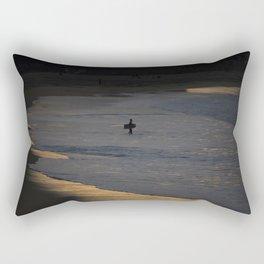 Bodyboarder at sunset. Rectangular Pillow