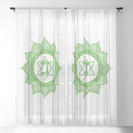 Heart Chakra #49 Sheer Curtain