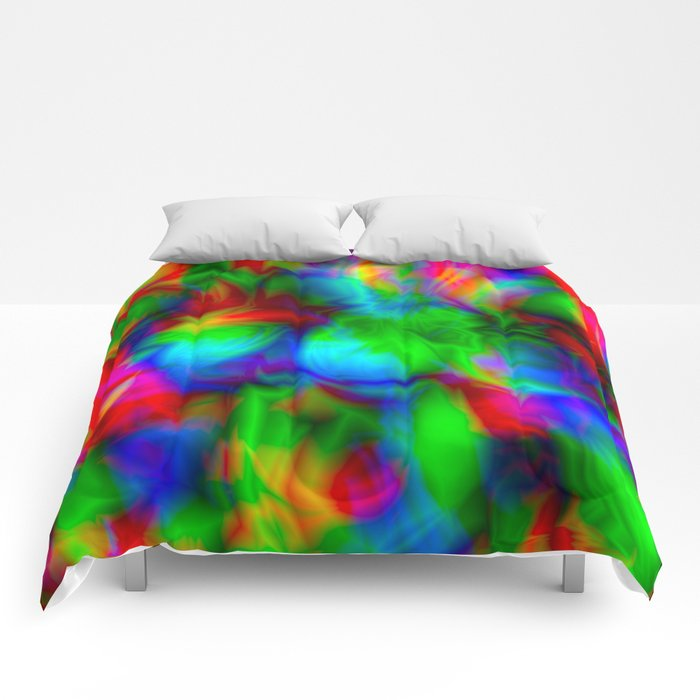 Psychedelic Pattern Comforters