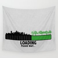 bar Wall Tapestries featuring Loading Bar by Kaitlynn Marie