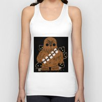 chewbacca Tank Tops featuring chewbacca wookiee by trevacristina