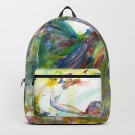 watercolor BALLERINA .1 Backpack