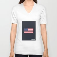 scandal V-neck T-shirts featuring Scandal - Minimalist by Marisa Passos