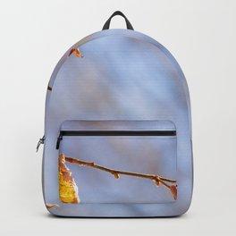 Hazelnut Leaves In The Winter Wind Backpack