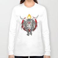 baphomet Long Sleeve T-shirts featuring Baphomet V1 by Savannah Horrocks