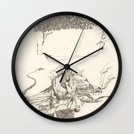 Cap de flors i monstre amb peus i llegua Wall Clock