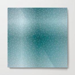 Triangular Cool Blues Metal Print