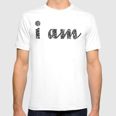 I AM MEDIUM White Mens Fitted Tee