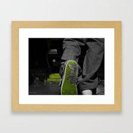 poop shoe Framed Art Print