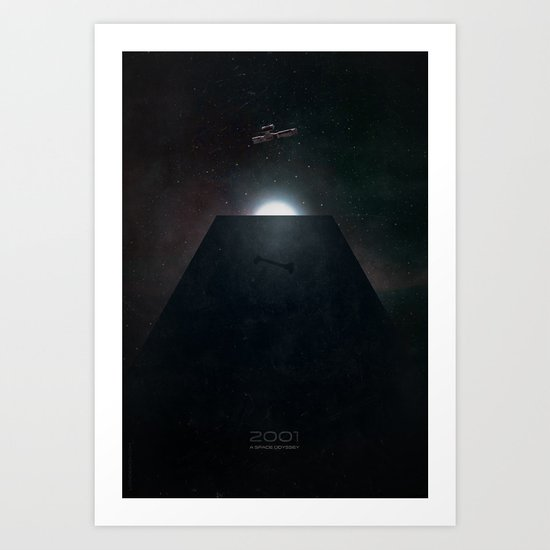2001 A Space Odyssey alternative movie poster Art Print