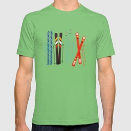 Retro Ski Illustration T-shirt