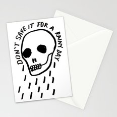 ink black and white skull illustration typography Stationery Cards